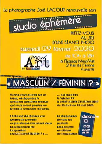 Joël Lacour ré-installe son studio éphémère